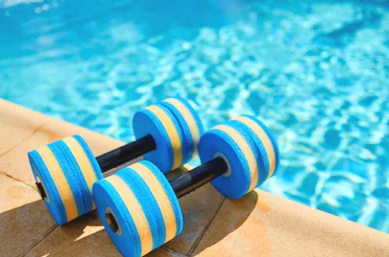 Image showing example of aqua dumbells
