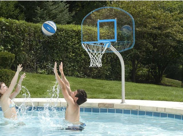 Deck Mount Basketball Hoops For Swimming Pools