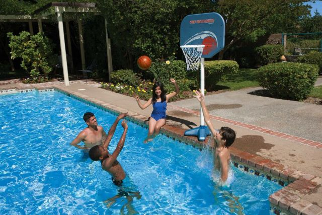Pro Rebounder Adjustable Pool Basketball