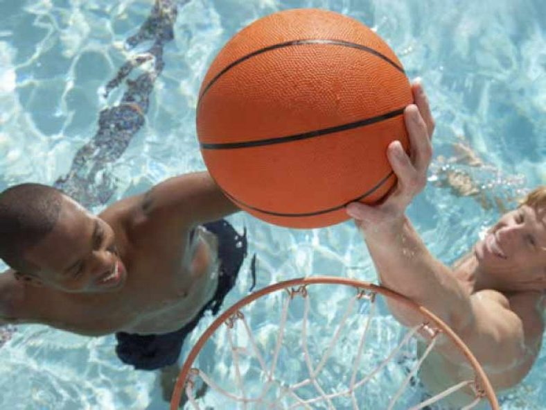 Portable Pool Basketball Hoops