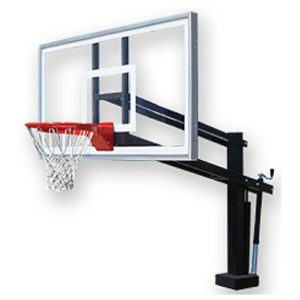 deck mounted pool basketball hoop for saltwater hydroshot