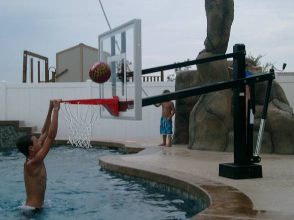Hydroshot Select Deckmount Pool Basketball hoop