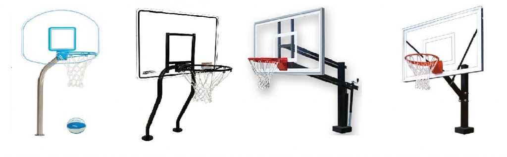 Deck Mounted Basketball Hoops For Swimming Pools