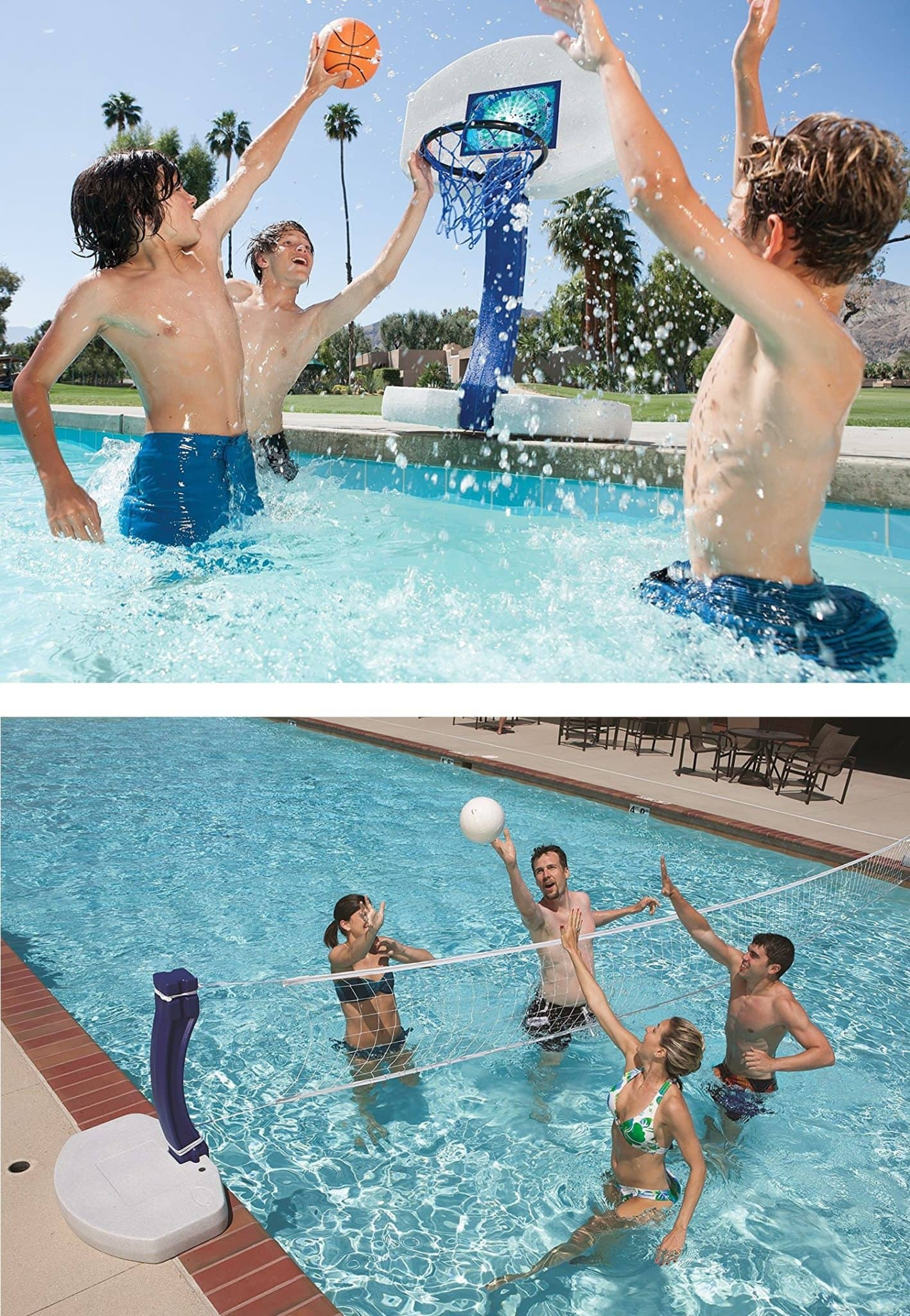 Swimways 2 in 1 pool basketball volleyball combo