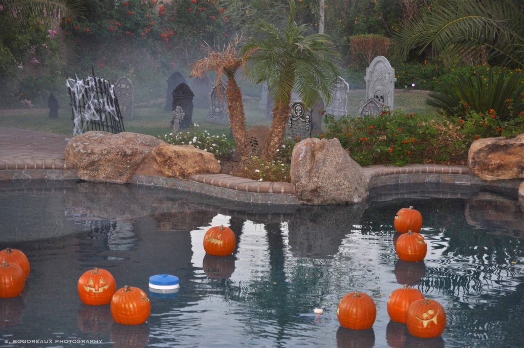Halloween Pool Floating Jack O lanterns