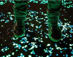Spooky effect of glow in the dark pathways
