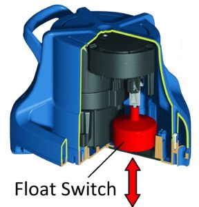 Submersible pool cover pump Little giant float switch
