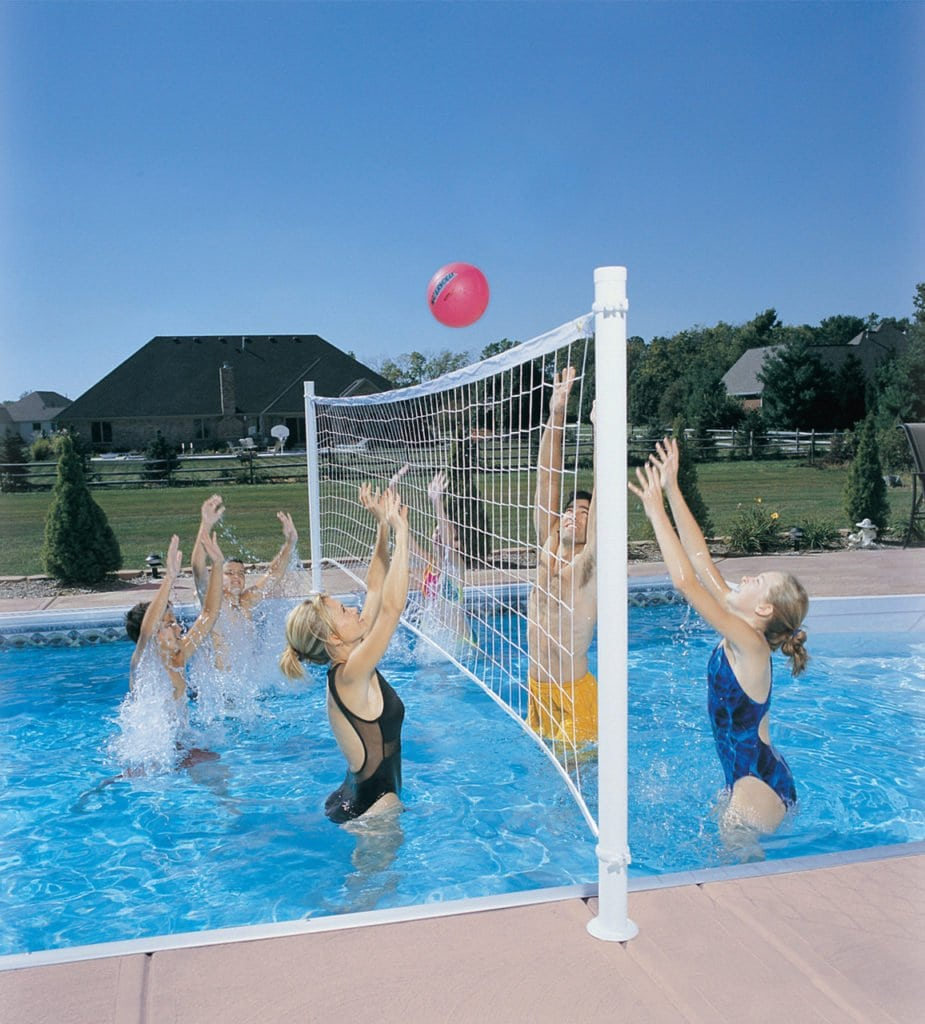 DeckVolly Pool Volleyball Net retrofit kit