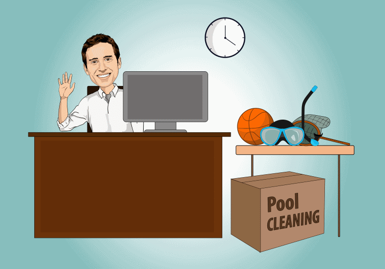 Caricature drawing of Steven for Contact page