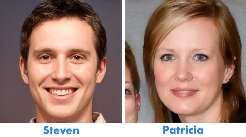 About Us page image of site owners & authors Steven and Patricia