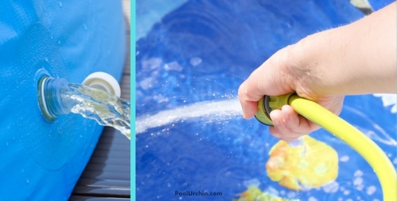 draining and filling your inflatable pool