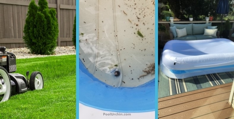 how to keep bugs out of an inflatable pool or kiddie pool