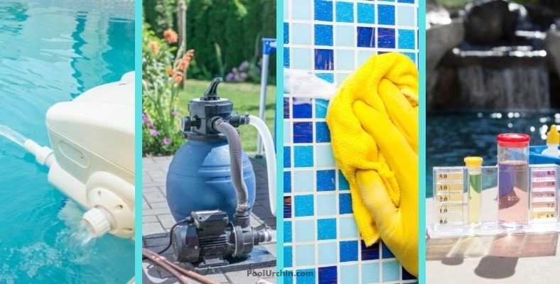 steps to take before dealing with pool algae