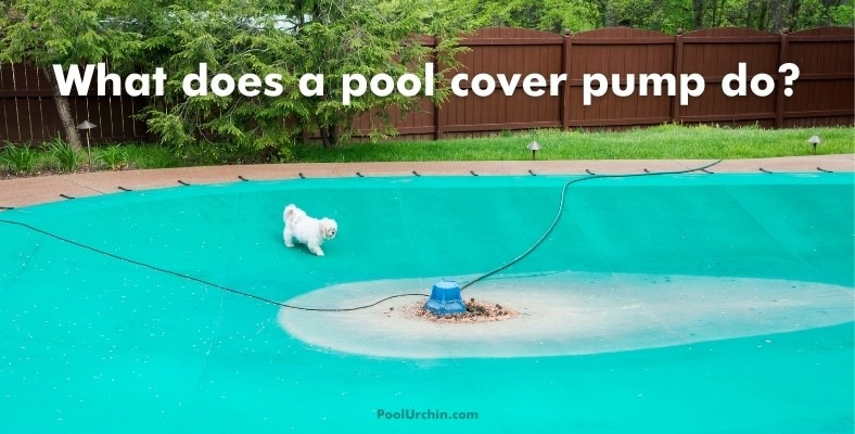 what does a pool cover pump do