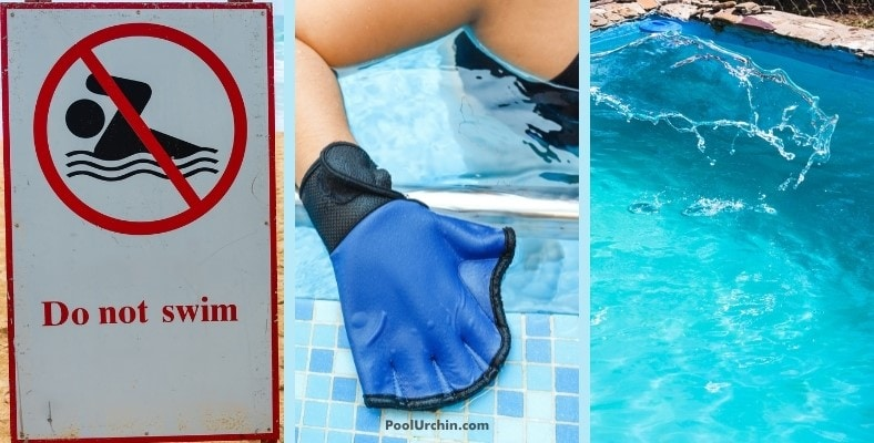 what should you do if a baby poops in the pool