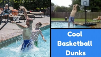Cool Pool Basketball Dunks